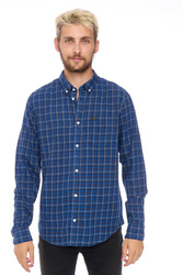 LEE BUTTON DOWN WASHED BLUE L880RMLR