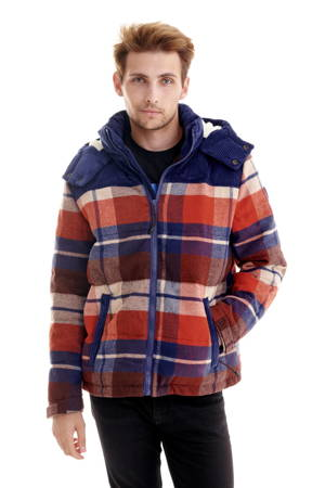 WRANGLER CHECK POP-OVER PUCE BROWN W4D3SGH06