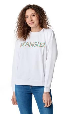 WRANGLER HIGH RIB RETRO SWEAT WHITE W6N0HA989
