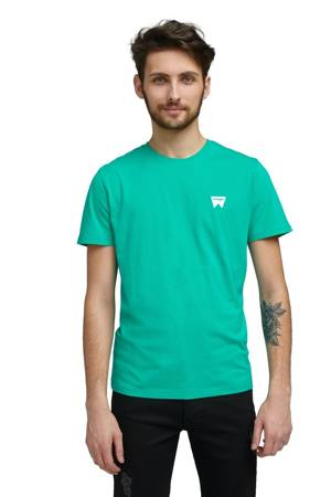 WRANGLER SIGN OFF TEE PEACOCK GREEN W7C07D382